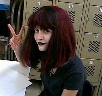 VICTORY on Goth Day during Homecoming Week